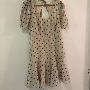 Rebecca Taylor Heart Print Dress